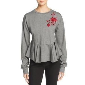 PETERSYN Womens Asher Peplum Sweatshirt $248